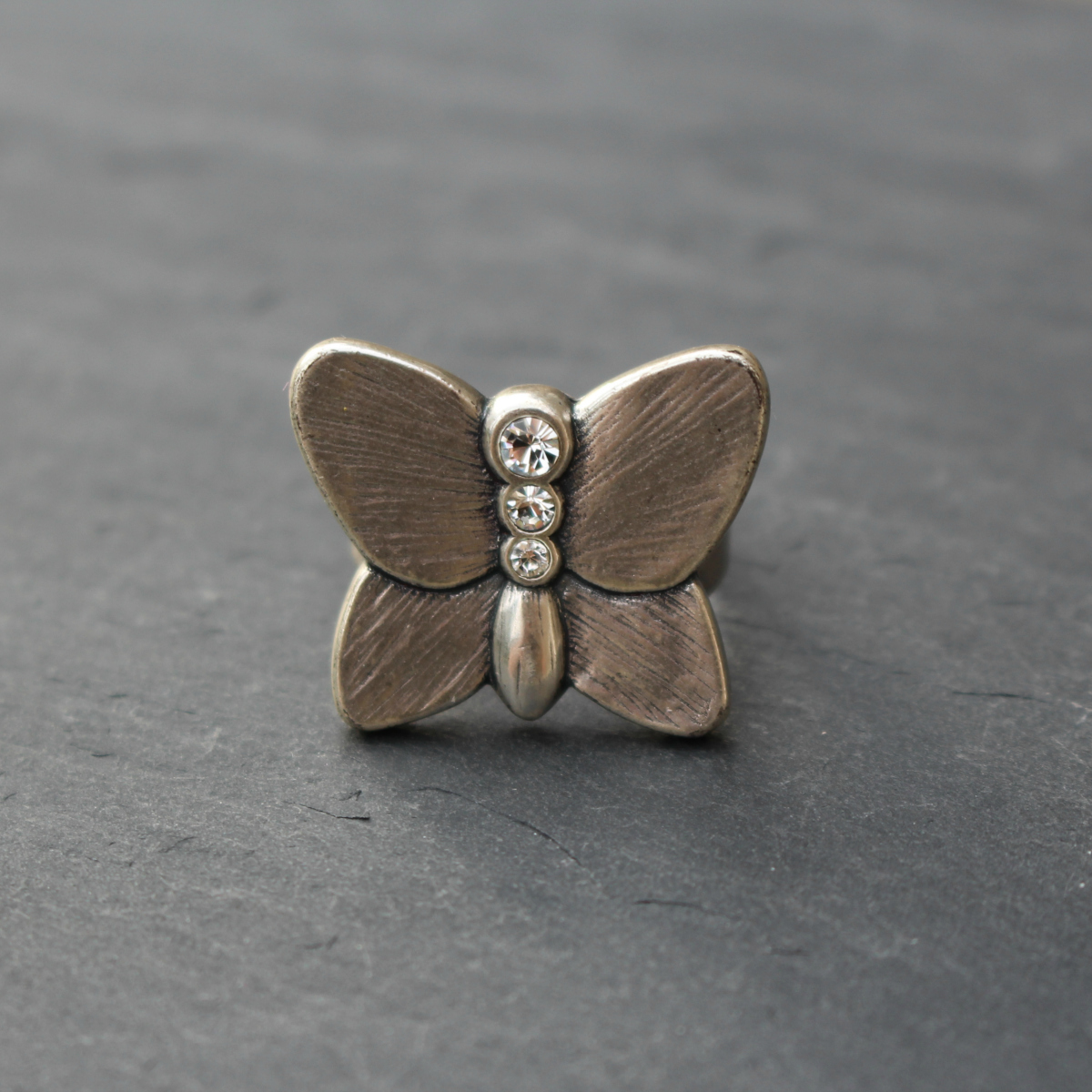Danon Silver Butterfly Ring