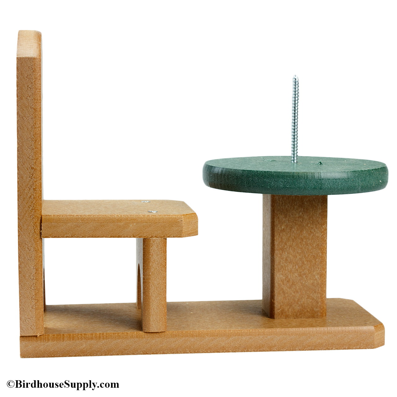 squirrel feeder chair with desk songbird essentials recycled table