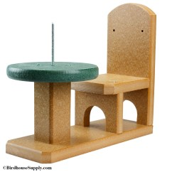 Squirrel Feeder Chair And Half Moon Pose Songbird Essentials Recycled Table