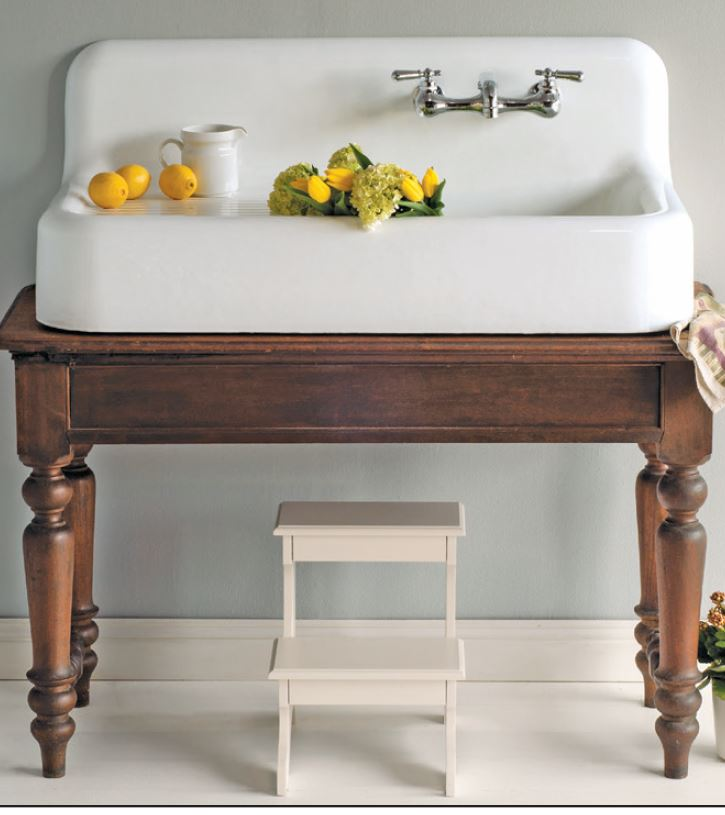 Create A One Of A Kind Look By Retrofitting An Antique Table Into A Farmhouse  Sink Vanity!