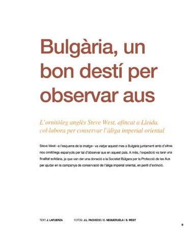Viatge Ornitològic a Bulgària 2010