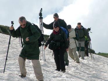 Caminando en la nieve de Vitosha