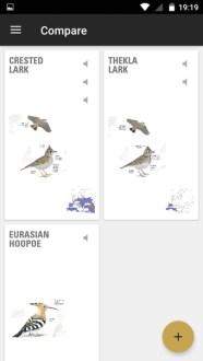 Collins Bird Guide App Compare Feature