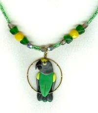 Senegal Meyers parrot necklace earrings-bird jewelry by dawn