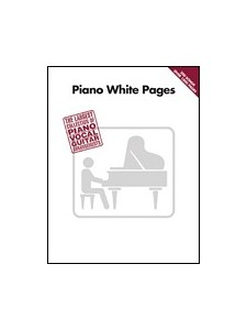 canzoni piano, piano vocal guitar, Piano White Pages sheet