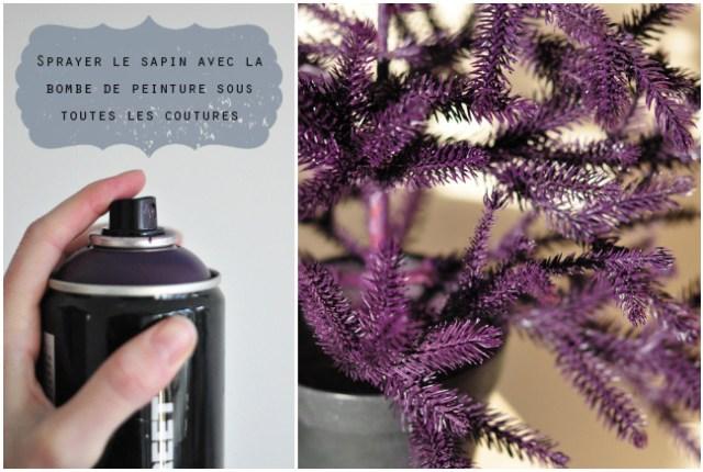 DIY sapin violet