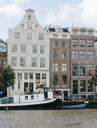 Escapade: les jolies maisons d'Amsterdam
