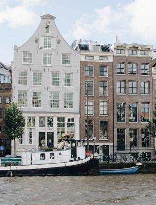 Escapade: les jolies maisons d'Amsterdam