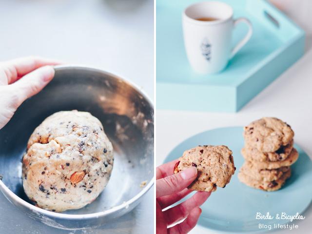 Ma recette de cookies facile et légère à la farine d'épeautre sur le blog Birds & Bicycles.
