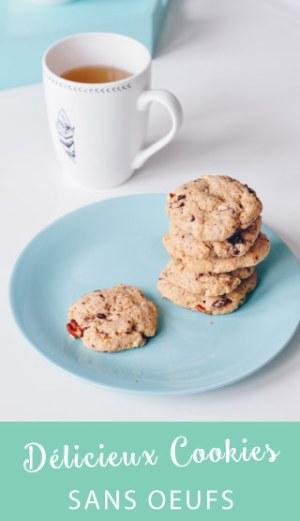 Des délicieux cookies légers ! Sans oeufs et à l'épautre, avec des éclats de chocolat, des amandes et des noix de pécan