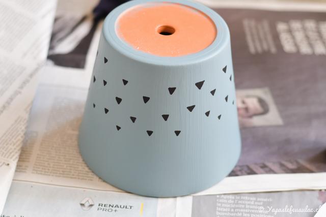 Peindre un pot de fleurs... trois idées sur le blog