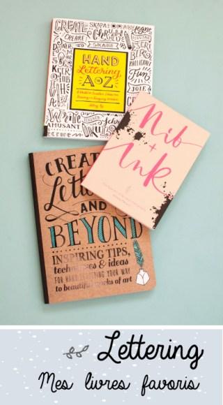 Mes livres de lettering favoris sur le blog