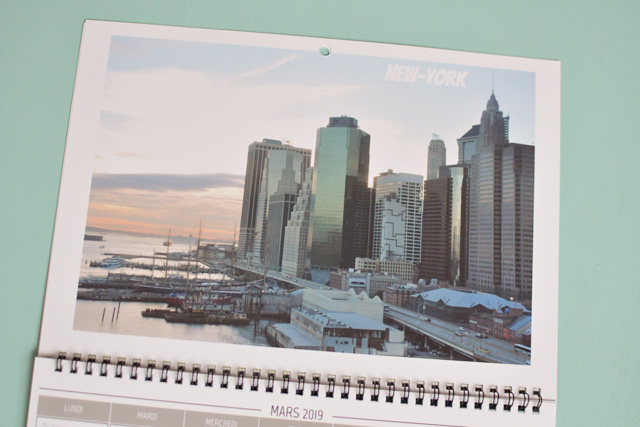 New-York dans mon calendrier voyage - avec des photos que j'ai prises
