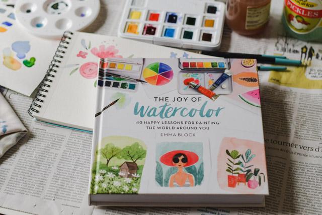 Je me mets à l'aquarelle! Avec ce magnifique livre, The Joy of Watercolor