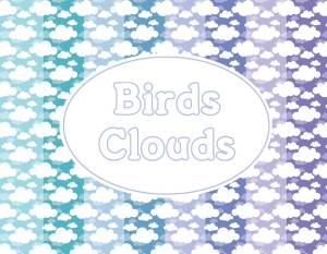 birds clouds paper pack