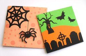 halloween petal cards