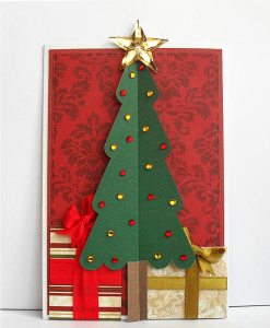 christmas tree d z card
