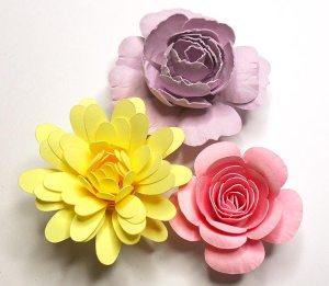 rolled flowers