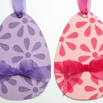 flowery egg tags