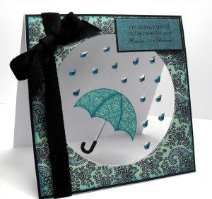 rain or shine umbrella card
