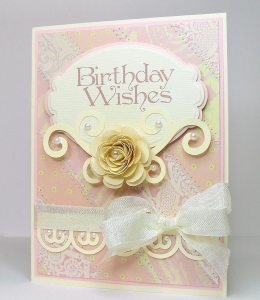 birthday wishes flourish card
