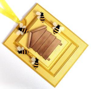 bee hive card 1
