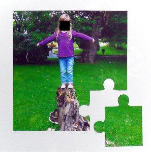 9 piece jigsaw magnet