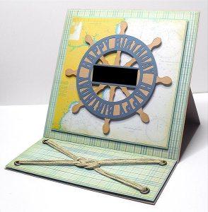 ships wheel easel card