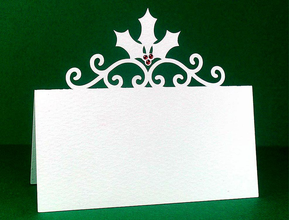 Christmas place cards free cut file