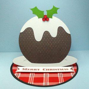 Christmas Pudding Easel Card 1
