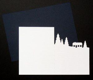 Snow Scene Card 1