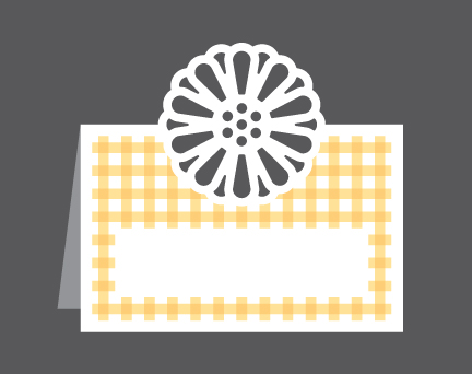 Summer Flower Place Card