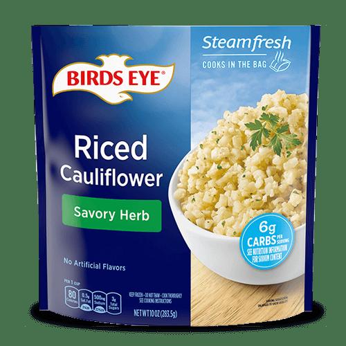 riced cauliflower savory herb