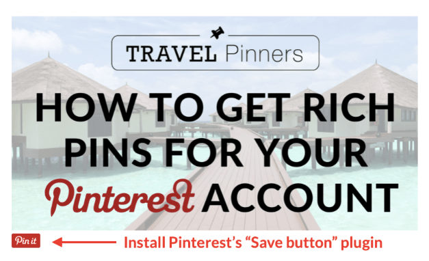 """5 Ways to Rock Pinterest - A Guide for Travel Bloggers. 5. Make your website """"Pinterest friendly"""" and promote your profile there and elsewhere!"""