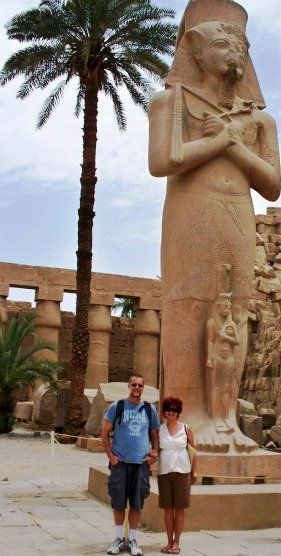 Dan and Jill in Luxor