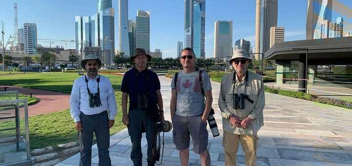 From Left to right: AbdulRahman Al-Sirhan (Tour leader), Daniel Mauras, Max Dettori and Gordon Cox.