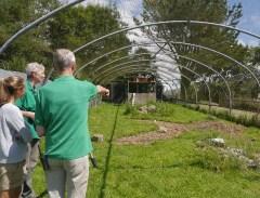 Ali and Ray explaining their flocking aviary setup