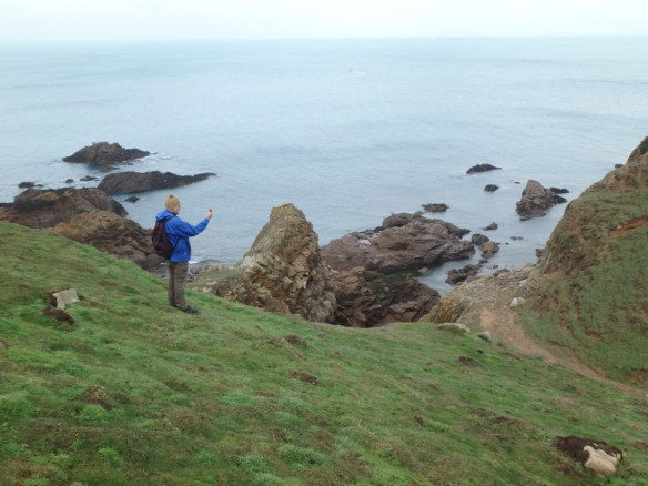 Will recording the location of a foraging site commonly used by the juveniles. Photo by Harriet Clark