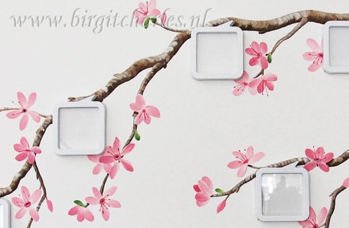 Bloesem muurschildering voor een romantische kamer