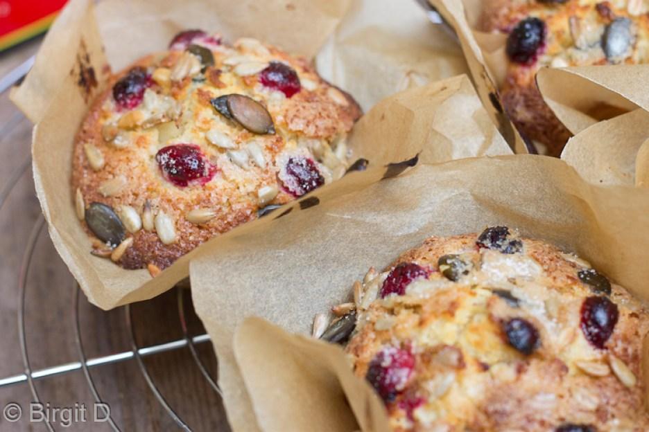 Knuspermuffins mit Apfel & Cranberries-18