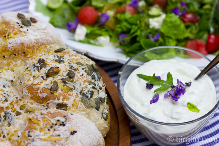 Brötchen-Sonne & Sommer-Salat