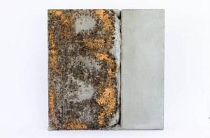 concrete, ink, gold leaf by Birgit Moffatt