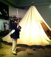 Man bodde i tält vid övningarna på heden