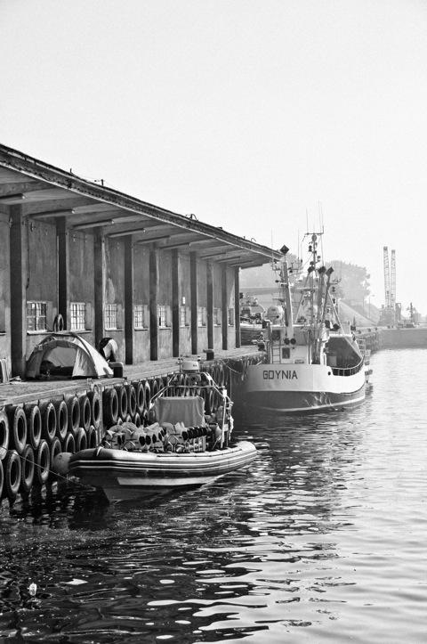 Bild: Im Hafen von Gdynia.