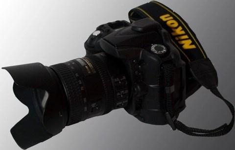 Bild: Die digitale Spiegelreflexkamera Nikon D90.