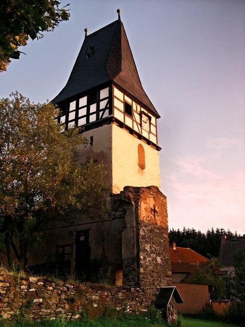 Bild: Die Dorfkirche zu Abberode, Mansfeld-Südharz.
