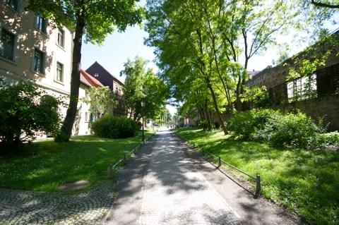 Bild: Die Augustapromenade in Aschersleben.