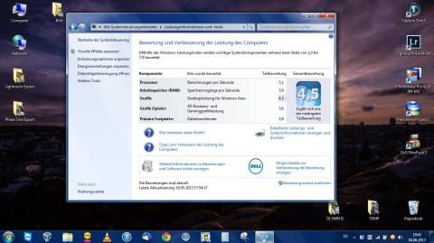 Bild: Die Leistungsbewertung des Acer Aspire One 756 unter Windows 7 Professional 64 Bit auf dem Acer Aspire One 756 kann sich sehen lassen. Klicken Sie auf das Bild um es zu vergrößern.