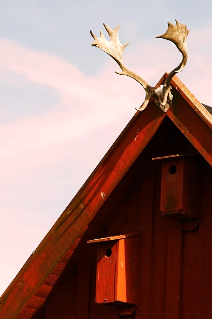 Bild: Giebel eines Bauernhauses in der Stora Alvaret auf der Insel Öland mit NIKON D700 und AF-S NIKKOR 24-120 mm 1:4G ED VR.