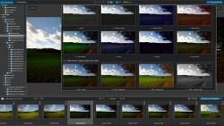 """Bild: Neu in DxO Optics Pro 9 ist auch die deutlich verbesserte Funktion """"Preset anwenden"""", die jetzt eine größere Vorschau von vorgefertigten Entwicklungseinstellungen von Fotos zum direkten Vergleich übersichtlich darstellt. Klicken Sie auf das Bild um es zu vergrößern."""
